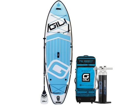10'6 Meno Inflatable Paddle Board Package in White