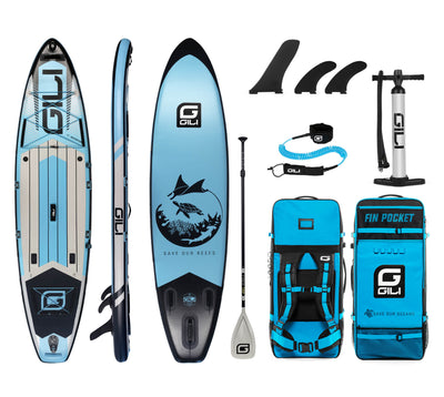 11' Adventure iSUP Package in Blue
