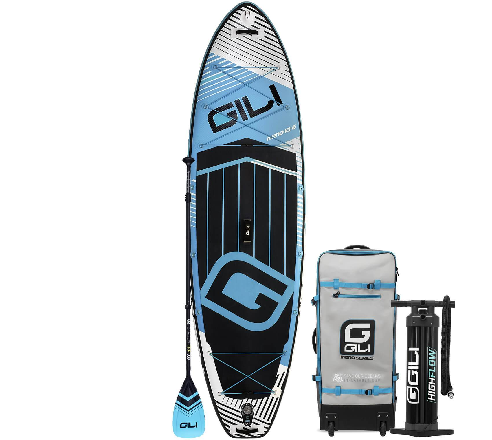 Preowned GILI 10'6 / 11'6 MENO Inflatable Stand Up Paddle Board Package