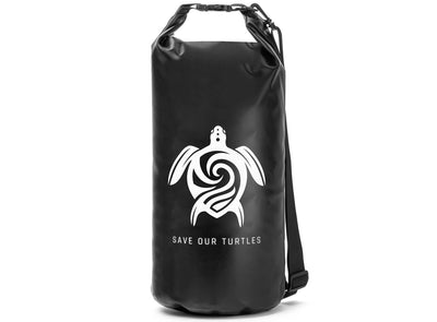 "GILI ""Save Our Turtles"" Dry Bag in Black"