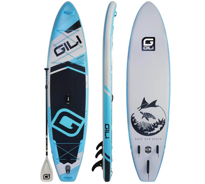 11' Adventure Inflatable Paddle Board (Blue)