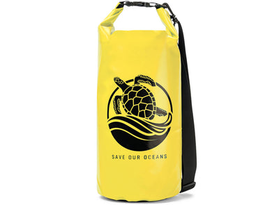 "GILI Waterproof Dry Bag in Yellow ""Save Our Oceans"""