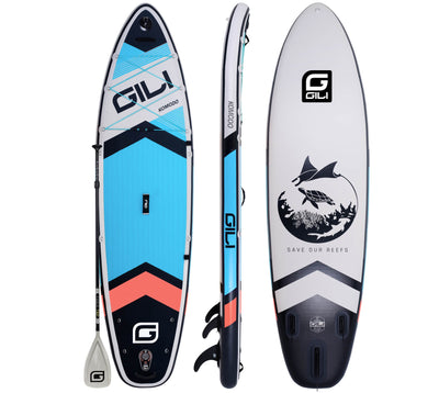 GILI Komodo Inflatable Paddle Board Blue