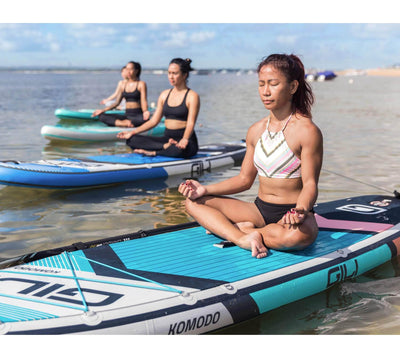 GILI Komodo Inflatable paddle Board being used for Yoga