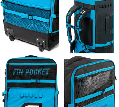 GILI Meno Series Rolling iSUP Backpack with Fin Pocket