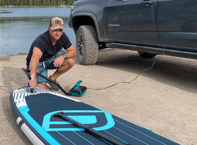 GLI 12V Electric Paddle Board Pump in Action