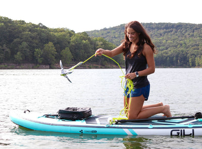 Tossing the Kayak/Paddle Board Anchor in Action