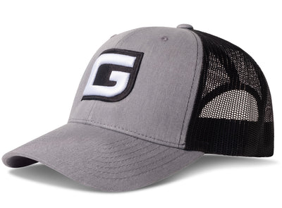 GILI Premium Snapback Trucker Hat: Heather Gray/Black