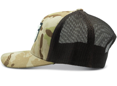 GILI Premium Trucker Hat Multicam Arid Side View