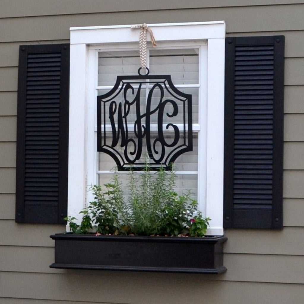 Metal Monograms for the Great Outdoors