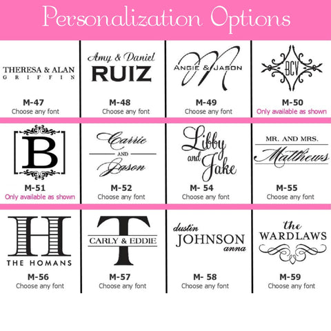 Personalization Options Page 2
