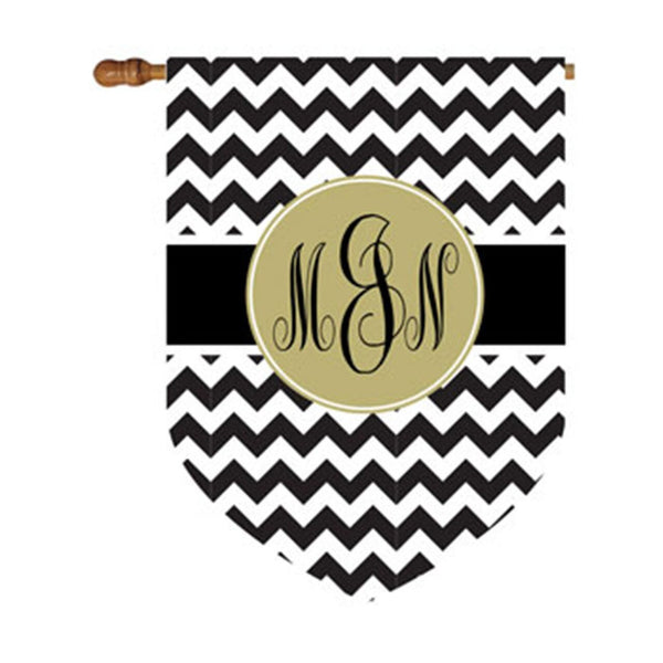 Premium Chevron Circle House or Garden Flag