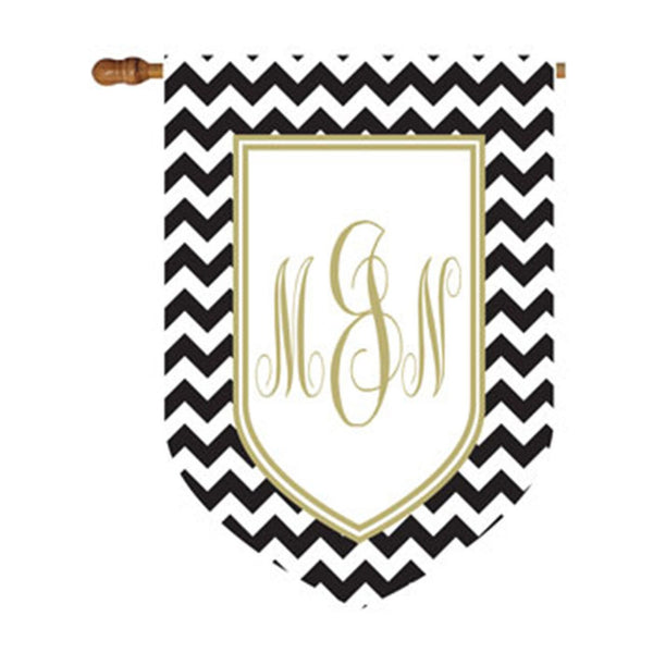 Premium Chevron Shield House or Garden Flag