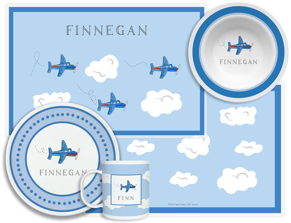 Airplane Children's Plate Set