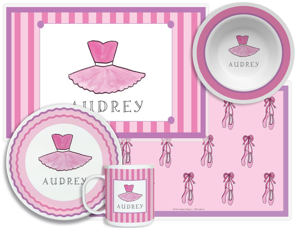 Ballerina Girl Children's Plate Set