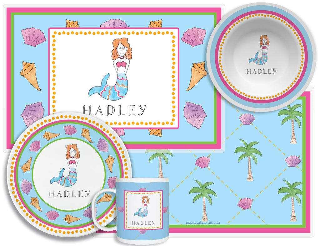 Mermaid Children's Plate Set