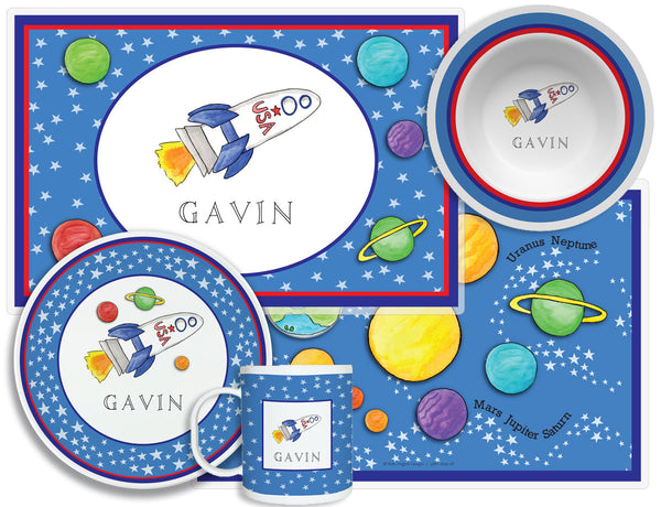 Blast Off Children's Plate Set
