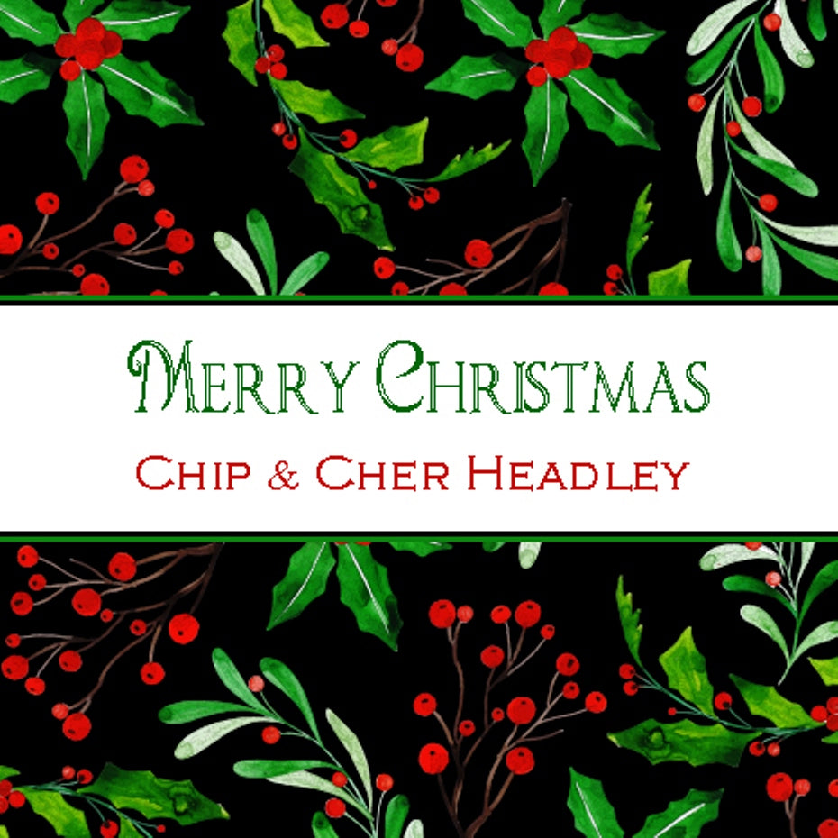 Christmas Holly Square or Round Stickers