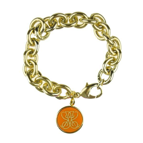 Classic Link Bracelet with Vintage Woven Charm