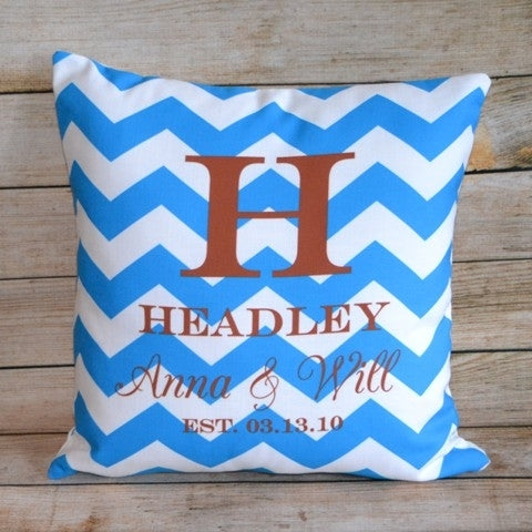 Custom Pillow - Wedding Chevron