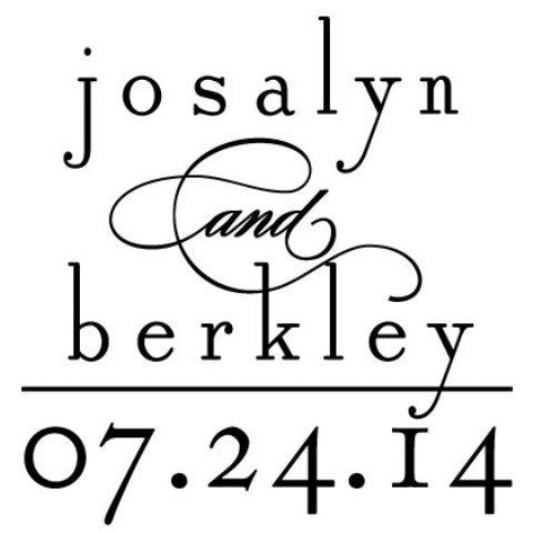 Custom Wedding Stamp 10021S