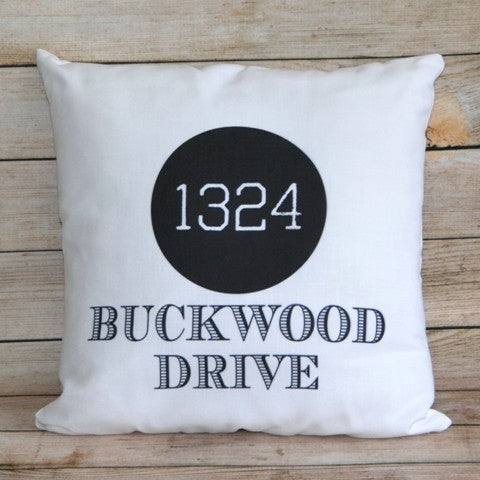 Custom Pillow - Your Address