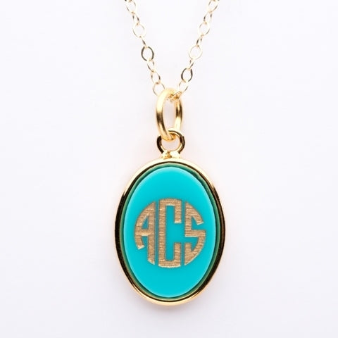Vineyard Monogram Necklace - Oval