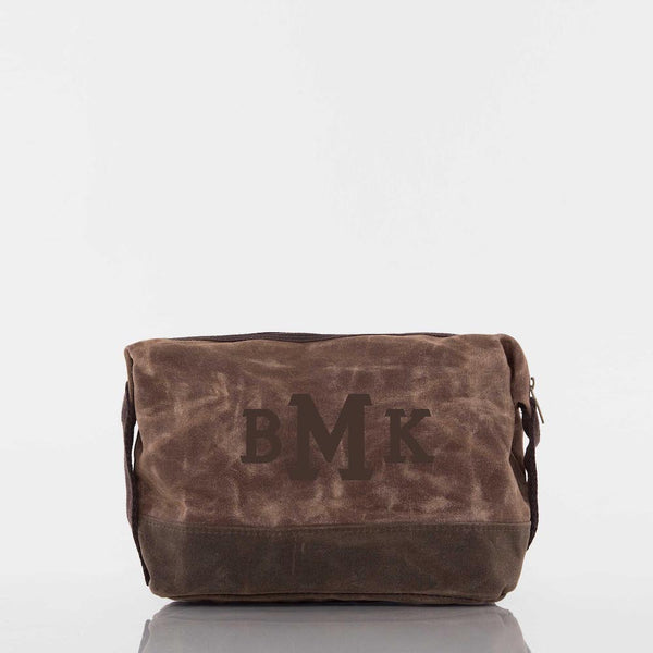 Khaki Waxed Dopp Kit