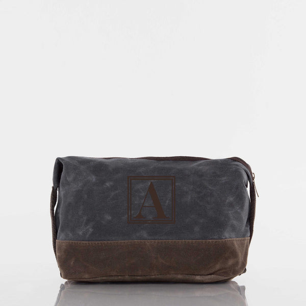Slate Waxed Dopp Kit