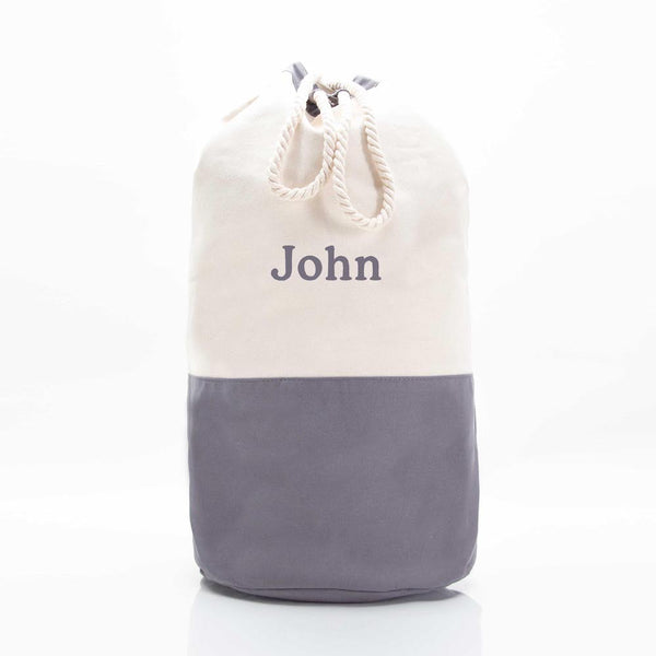 Gray Laundry Duffel Bag