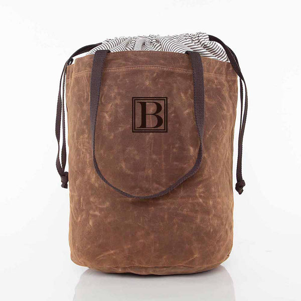 Khaki Waxed Laundry Duffel Bag