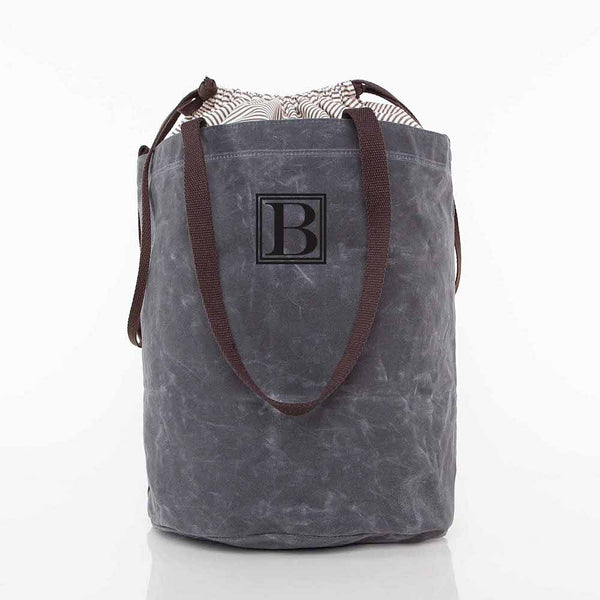 Slate Waxed Laundry Duffel Bag