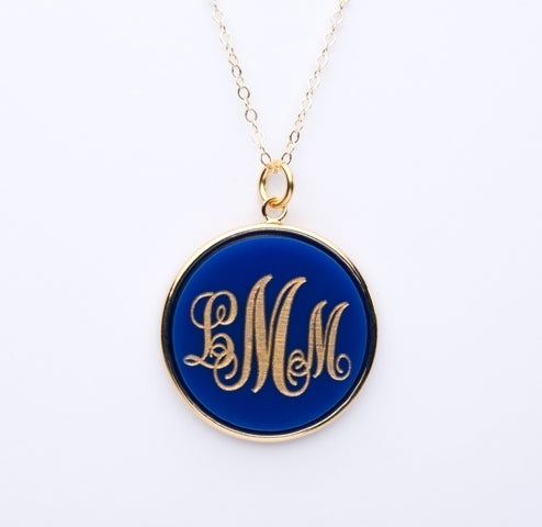 Vineyard Monogram Necklace - Round
