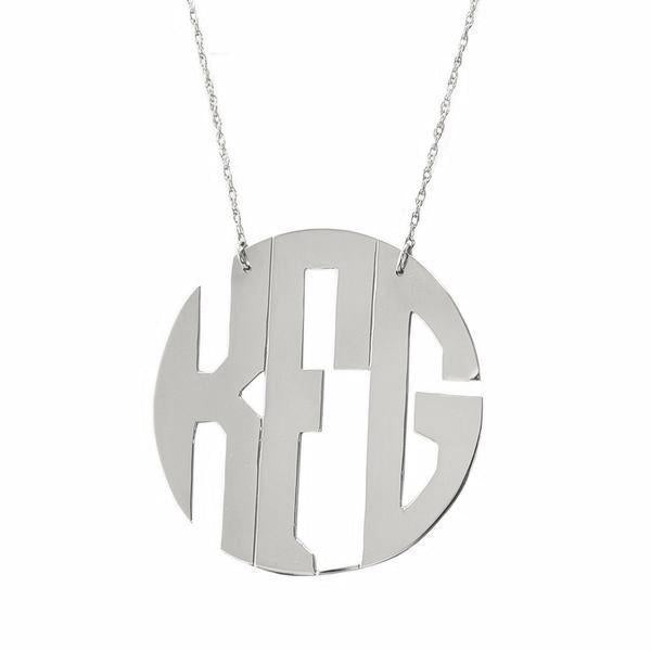 Hampton Circle Monogram Necklace