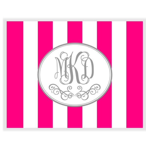 Cabana Flourish Monogram Note Cards