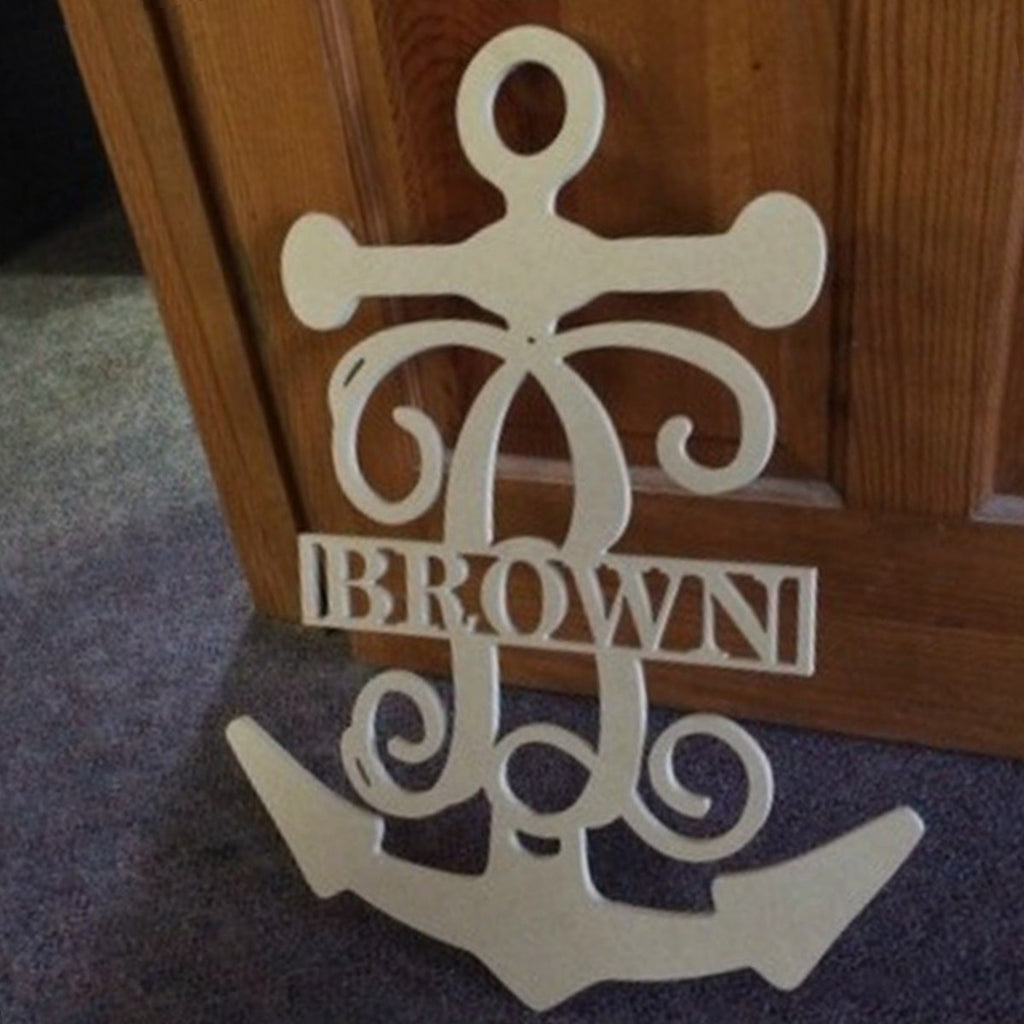 Unfinished Family Name Sign Anchor Frame
