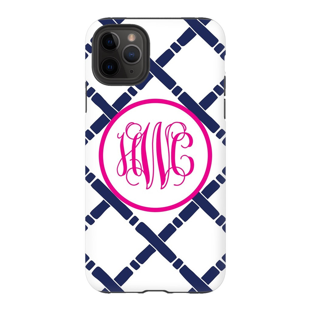Navy Bamboo Phone Case