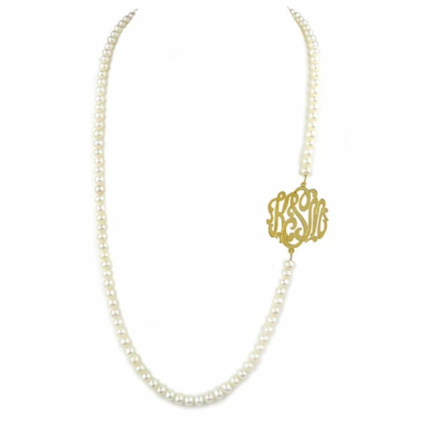 Biltmore Pearl Monogram Necklace