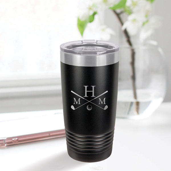 Engraved Golf Monogram 20oz Tumbler