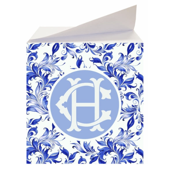 Custom Blue Swirl Sticky Memo Note Cube