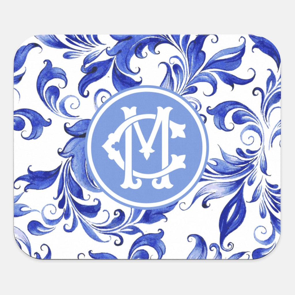 Blue Swirl Mouse Pad