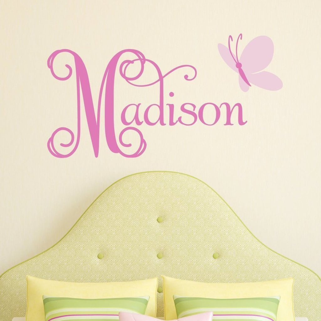Butterfly Name Wall Decal