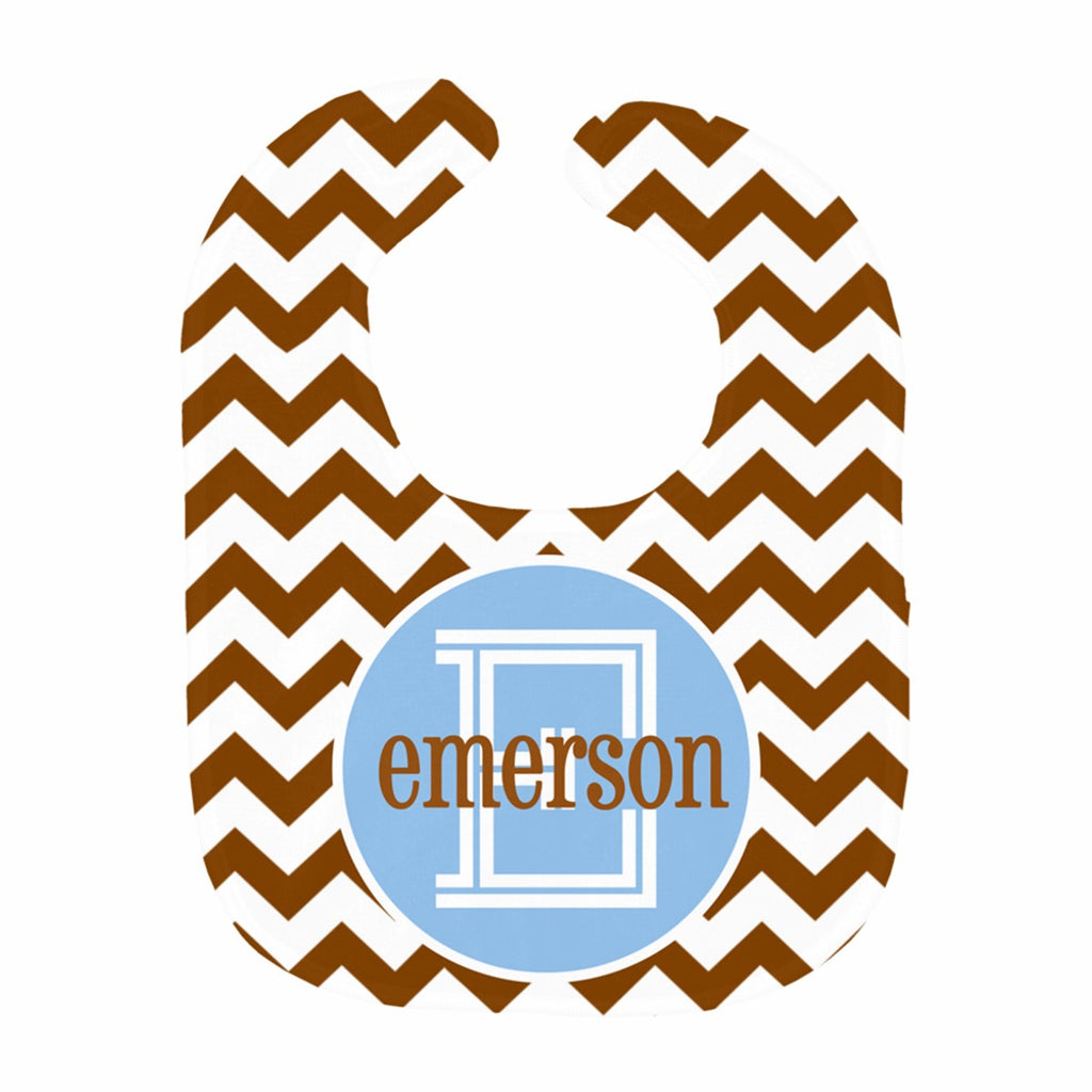 Chevron Block Name Bib
