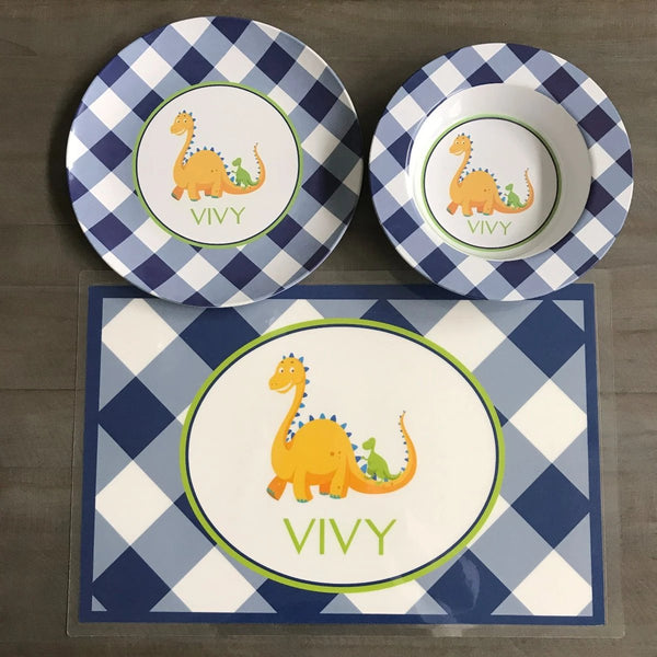 Children's Dinosaur Plate Set