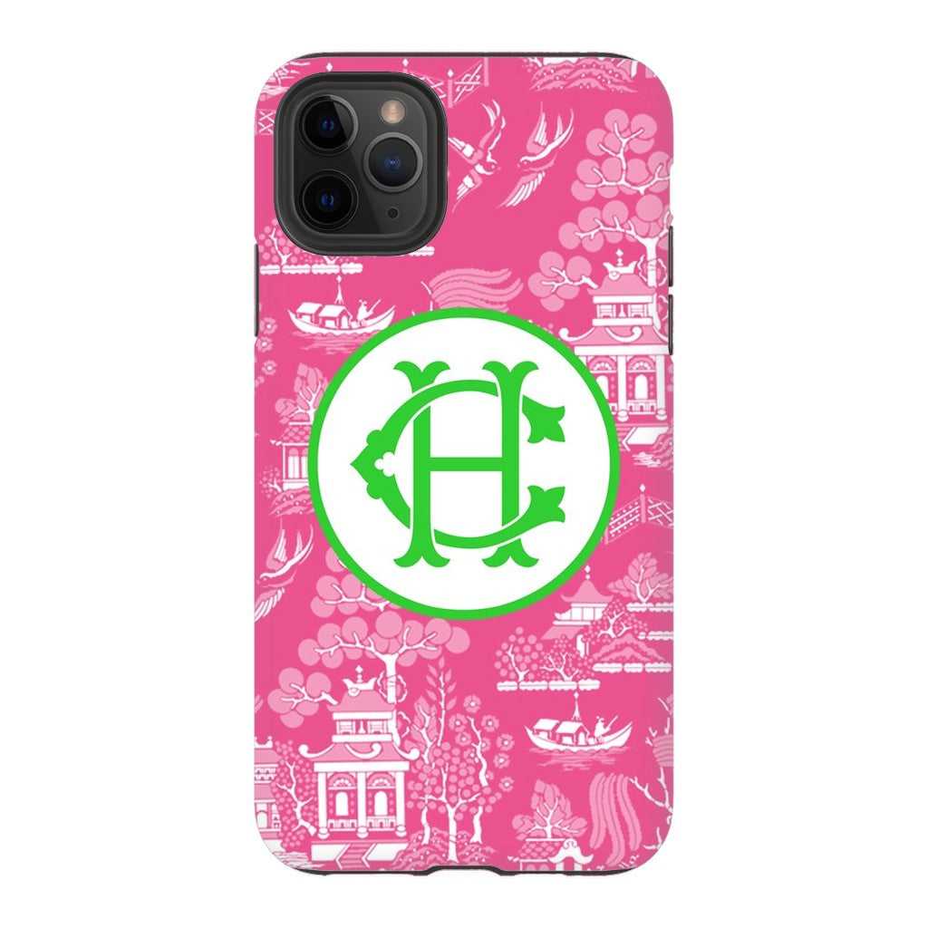 Custom Pink Chinoiserie Phone Case