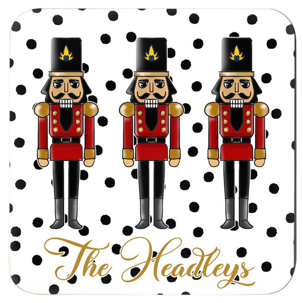 Holiday Nutcrackers Coaster Set