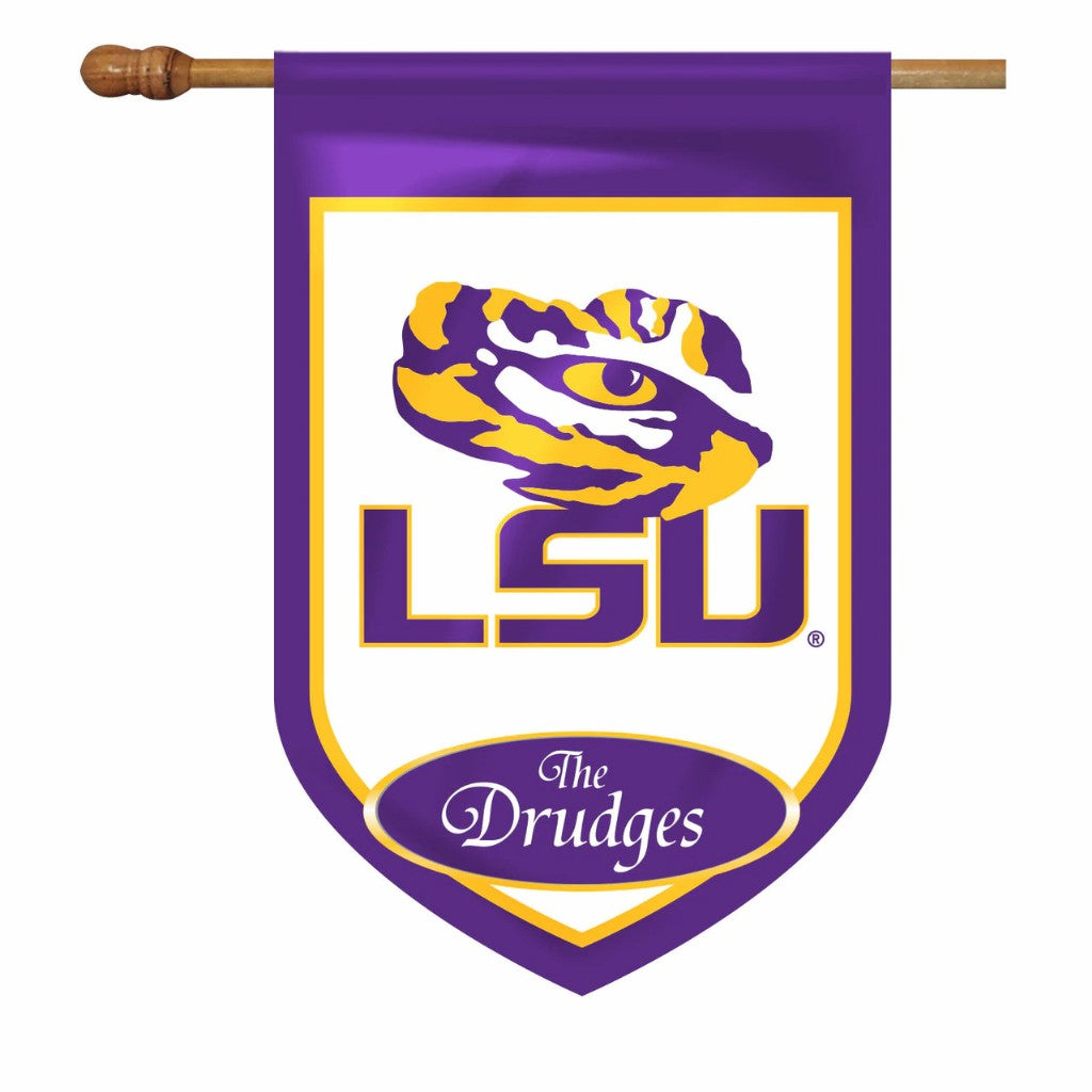 LSU Personalized House & Garden Flags