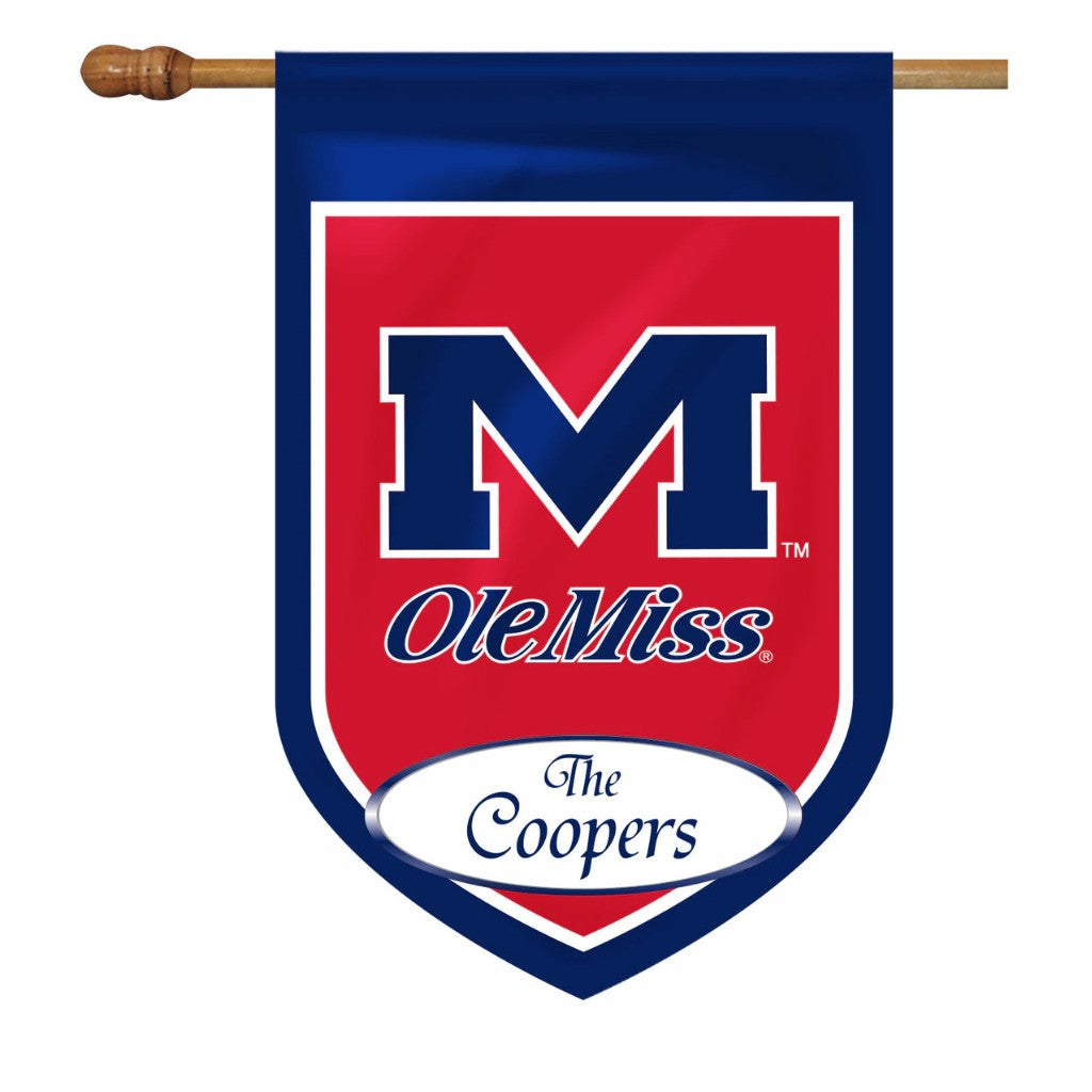 Premium Ole Miss Personalized House or Garden Flags