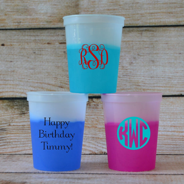 Custom Color-Changing Cups
