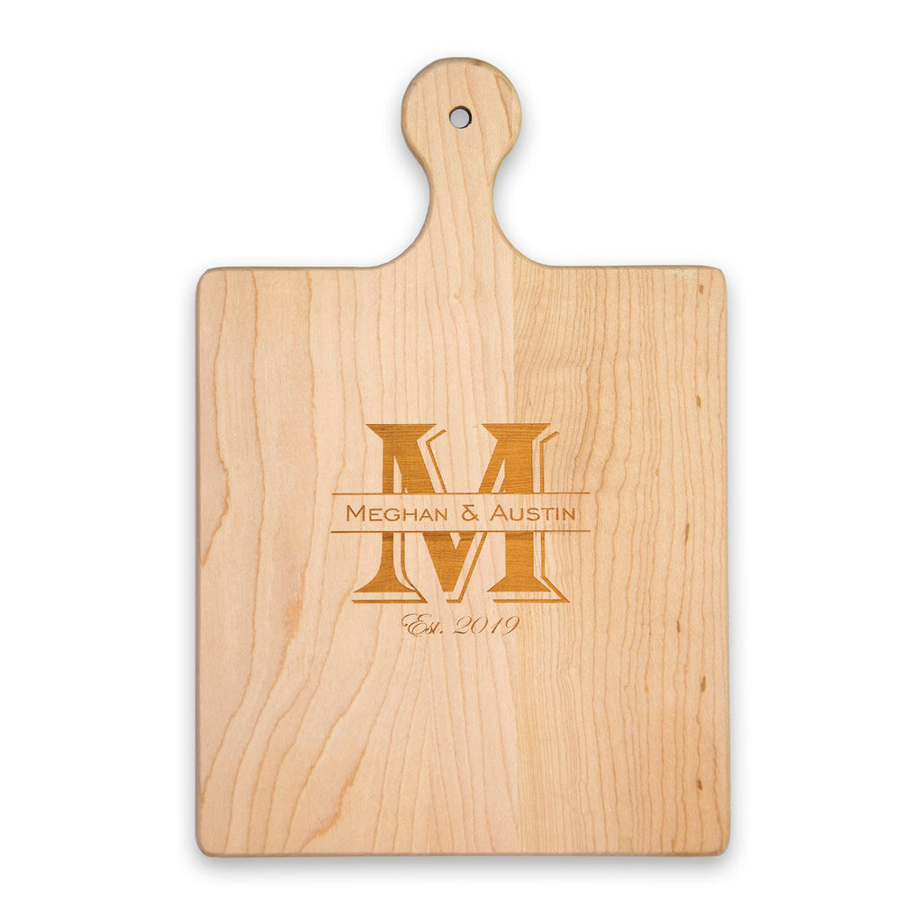 Premium Cutting Board with Handle - Choose Engraving Style